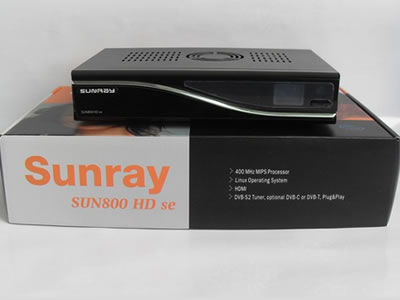 Sunray SUN800 HD SE with SIM2.10 Card satellite receiver  TV receiver