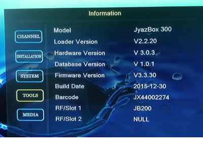 V300 JynxBox Ultra HD V300 Receiver