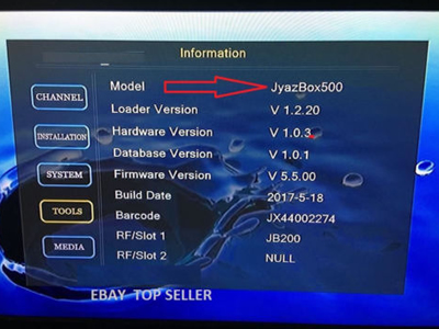 jynxbox jyazbox Ultra HD V500 Satellite Receiver with JB Mudule 200 Installed
