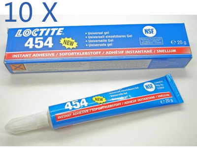 10 units LOCTITE 454 Surface Insensitive Instant Adhesive Gel 20g