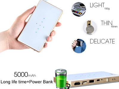 Pico handhold Projector Q6 wifi mirrowing for iPhone/Andorid phone/ipad