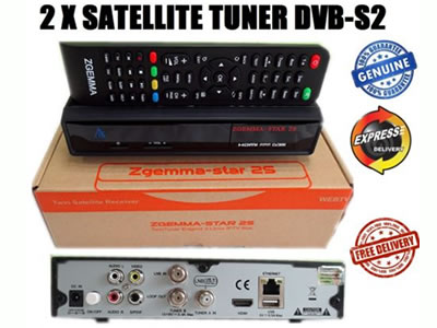 ZGEMMA STAR 2S SATELLITE RECEIVER TWIN DVB-S2 TUNER ENIGMA