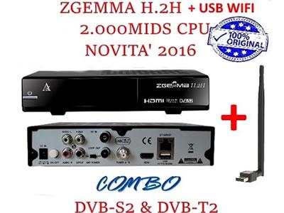 Zgemma Star H2H Decoder Satellitare S2&T2 Enigma2 Linux HD IPTV
